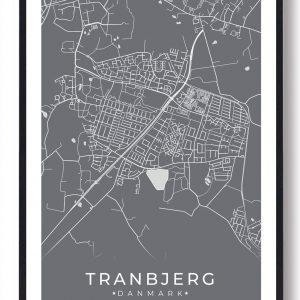 Tranbjerg plakat - grå