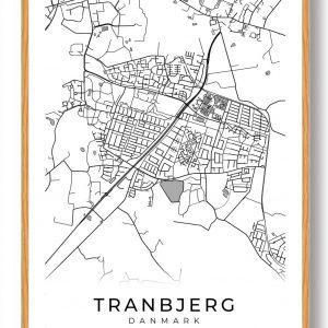 Tranbjerg plakat - hvid