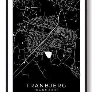 Tranbjerg plakat - sort
