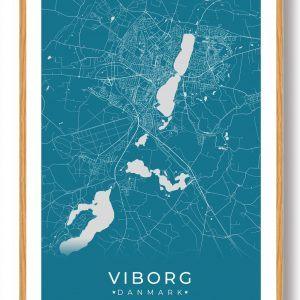 Viborg plakat - blå