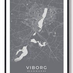 Viborg plakat - grå