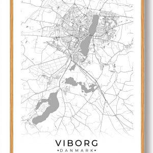 Viborg plakat - hvid