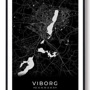 Viborg plakat - sort