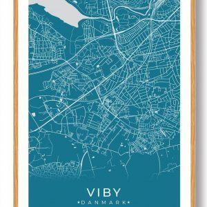 Viby J plakat - blå