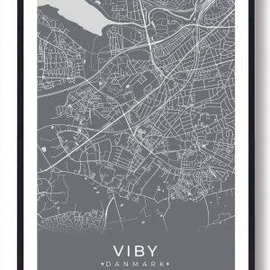 Viby J plakat - grå