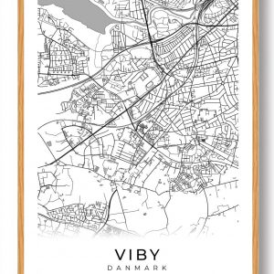 Viby J plakat - hvid