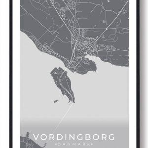 Vordingborg plakat - grå