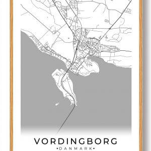 Vordingborg plakat - hvid