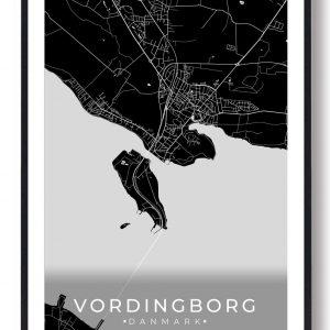 Vordingborg plakat - sort