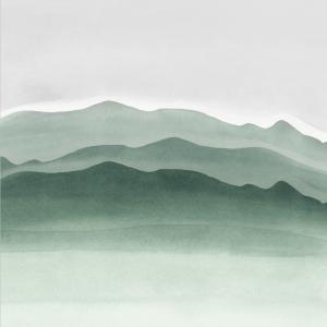 Watercolor landscape plakat