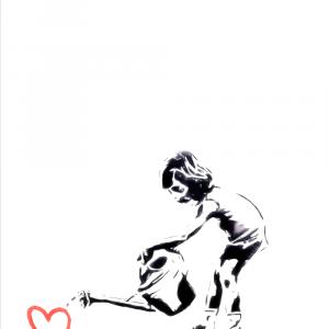 Watering love - Banksy plakat
