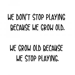 We grow old
