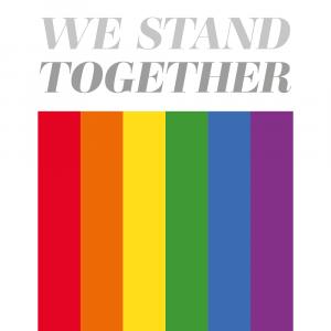 We stand together - Pride plakat