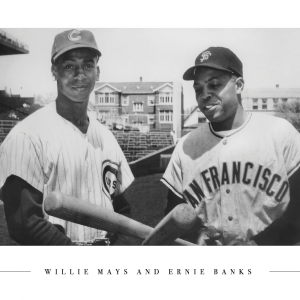 Willie Mays and Ernie Banks - Plakat