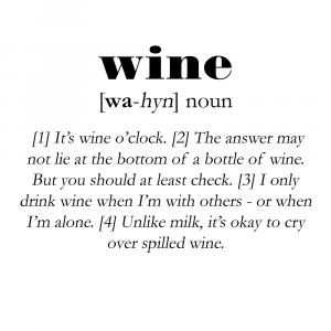 Wine definition - Men's Lounge plakat