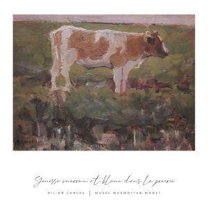 Yénisse marrow et blanc dans la prairie - Piet Mondrian