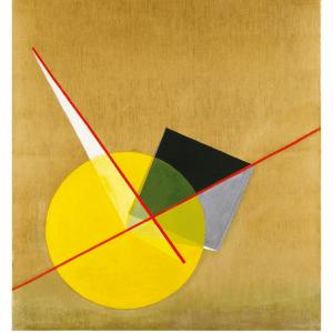 Yellow Circle Bauhaus - László Moholy-Nagy kunstplakat