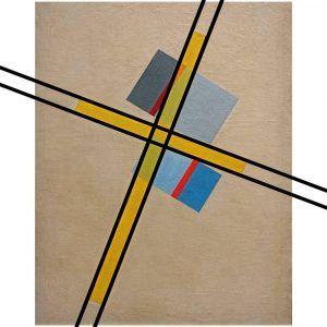 Yellow cross Q VII - László Moholy-Nagy kunstplakat