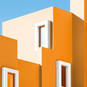 Yellow house - Arkitektur plakat