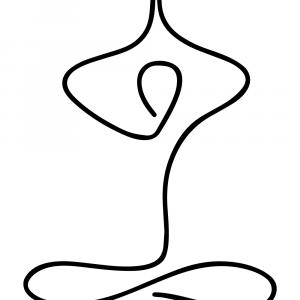 Yoga lotus plakat
