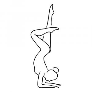 Yoga pose No3 plakat