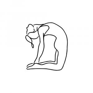 Yoga pose plakat