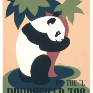 Zoo plakat - Panda 2