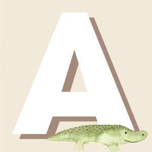 A - Børneplakat med bogstav