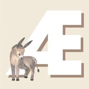 Æ - Børneplakat med bogstav