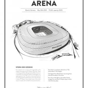 Allianz Arena - Bayern München arena - stadionplakat