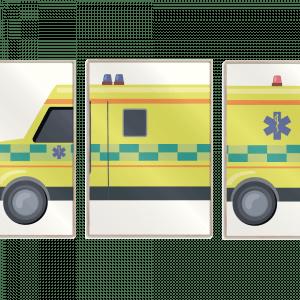 Ambulance plakatsæt - Børneplakat