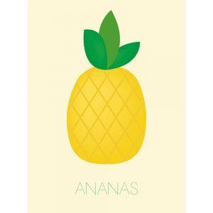 Ananas - Børneplakat