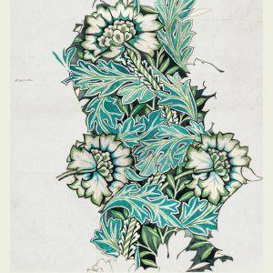 Anemone - William Morris kunstplakat