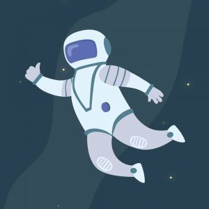Astronaut i rummet - Børneplakat