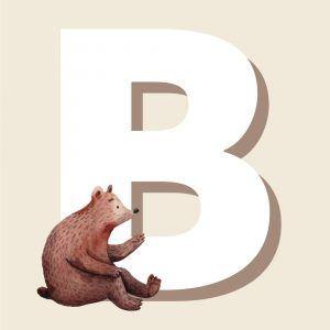 B - Børneplakat med bogstav