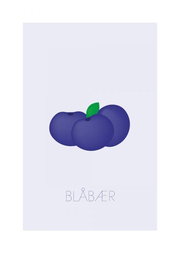 Blåbær - Børneplakat