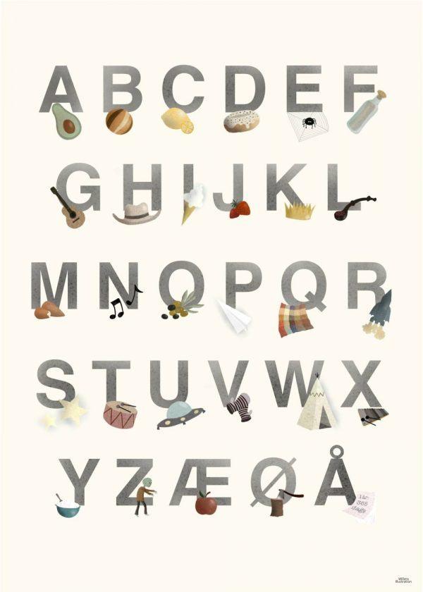 Børnenes alfabet - Børneplakat