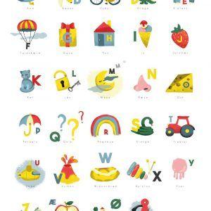 Børnenes alfabet ll - Børneplakat