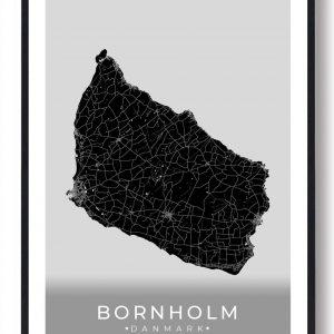 Bornholm plakat (sort)