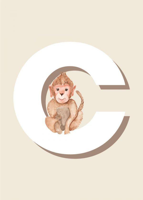 C - Børneplakat med bogstav
