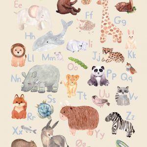 Dyrenes alfabet - Børneplakat