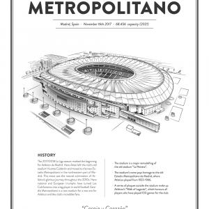 Estadio Metropolitano - Atlético Madrid arena - stadionplakat