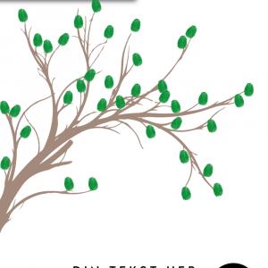 Fingeraftryks gren - Fingeraftryk plakat