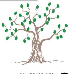 Fingeraftryks træ - Fingeraftryk plakat