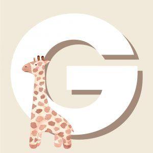 G - Børneplakat med bogstav