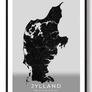 Jylland plakat - sort