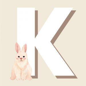 K - Børneplakat med bogstav