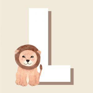 L - Børneplakat med bogstav