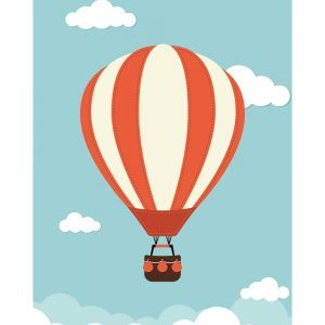 Luftballon - Børneplakat