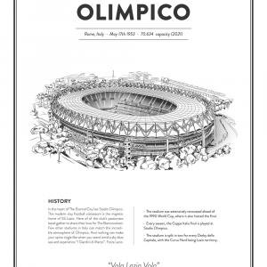 Olimpico - SS Lazio arena - stadionplakat